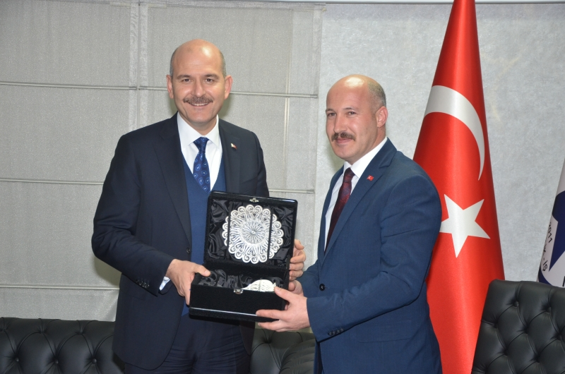 İçişleri Bakanı Soylu, Güvenlik-İş Sendikasını Ziyaret Etti