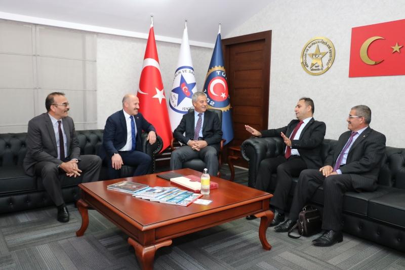 EGM Özel Güvenlik Daire ve Denetleme Başkanlığı Güvenlik-İş Sendikasını Ziyaret Etti