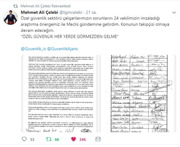 CHP İzmir Milletvekili Çelebi'den Özel Güvenlik Görevlilerinin Özlük Hakları için Meclis Araştırması Talebi