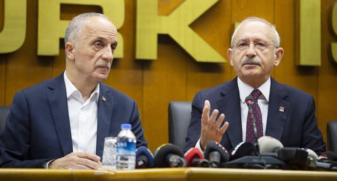 Kılıçdaroğlu' nun Türk-İş'i Ziyaretinde, Kadroya Geçemeyen İşçiler ve Asgari Ücret Konuşuldu
