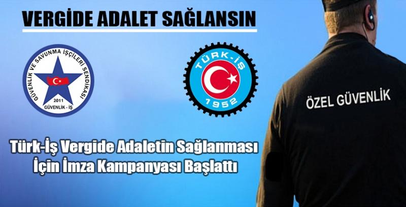 Türk-İş Asgari Ücretliden Vergi Alınmaması İçin İmza Kampanyası Başlattı