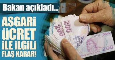 Bakan Ağbal'dan flaş 'Asgari Ücret' açıklaması