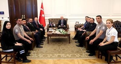 Güvenlik-İş Sendikasından İçişleri Bakanı Soylu'ya Ziyaret