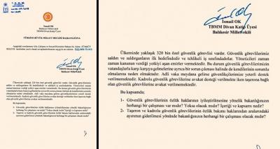 İyi Parti Balıkesir Milletvekili İsmail Ok AÇSHB Bakanı Selçuk'a Özel Güvenliklerin Özlük Haklarını Sordu
