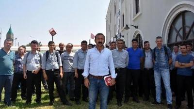 İZBAN'da görevli güvenlik personelinden yeni sözleşmeye tepki