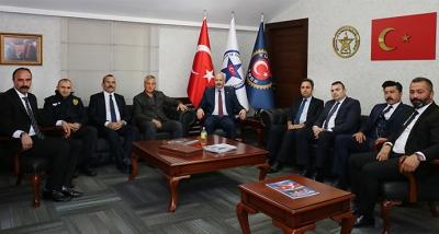 Özel Güvenlik Daire ve Denetleme Başkanlığı Güvenlik-İş Sendikasını Ziyaret Etti
