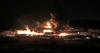 Özel Güvenlik Görevlisi Yangında Alevler Arasında Kaldı