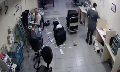 Para nakli yapan özel güvenlik şirketinde akıl almaz soygun