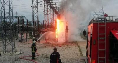 Trafo Merkezindeki Yangını Özel Güvenlik Farketti