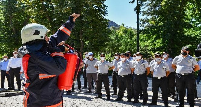 Ankara İtfaiyesi'nden Anfa güvenlik personeline yangın tatbikatı eğitimi