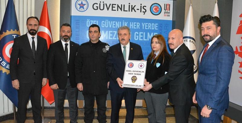 BBP Genel Başkanı Mustafa Destici Güvenlik-İş Sendikasını Ziyaret Etti