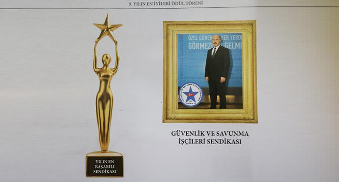 Engelsiz Yaşam Vakfı'ndan, Güvenlik-İş Sendikasına ve Genel Başkanı Çağırıcı' ya Ödül
