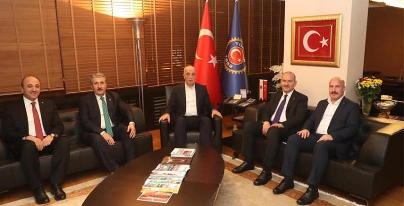 Güvenlik-İş Genel Başkanı Çağırıcı İçişleri Bakanı Soylu ile Görüştü