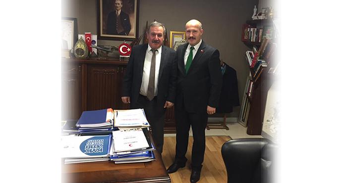 Güvenlik-İş Sendikası, KYK Genel Müdürü Recep Ali Er' i Ziyaret Etti
