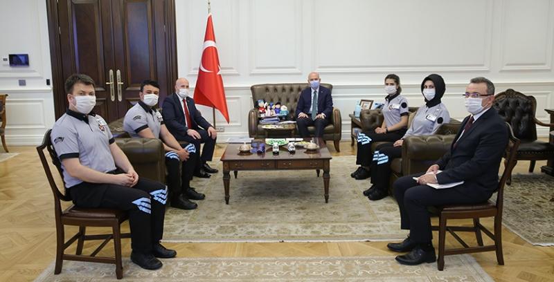 Güvenlik-İş Sendikası ve Özel Güvenlikler İçişleri Bakanı SOYLU'yu Ziyaret Etti