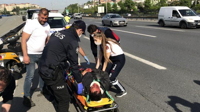 Özel Güvenlik Görevlisi Motosiklet Kazasında Yaralandı