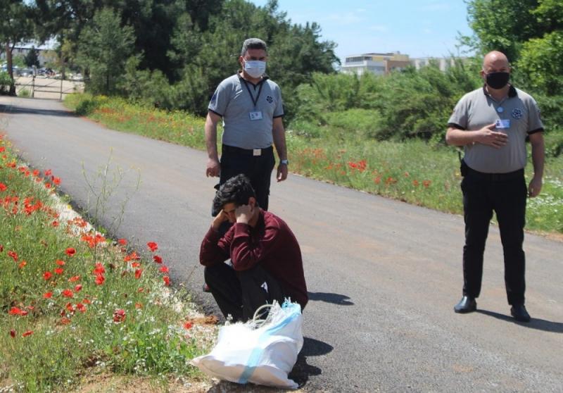 Özel Güvenlikler Hırsızı Suçüstü Yakaladı