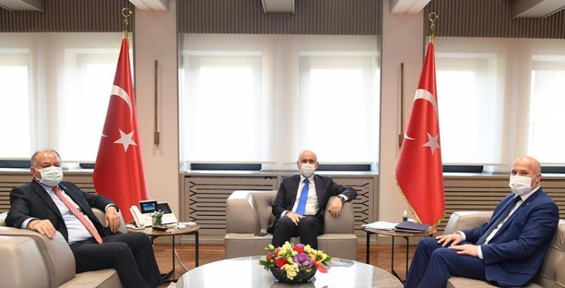 Güvenlik-İş'ten Ulaştırma ve Altyapı Bakanı Karaismailoğlu'na Ziyaret