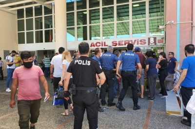 Aydın Devlet hastanesi karıştı özel güvenlik yaralandı