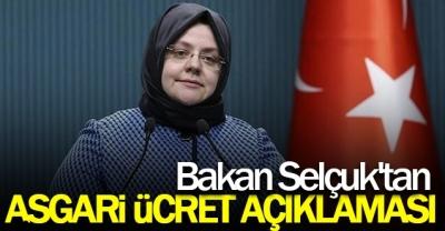 Bakan Zehra Zümrüt Selçuk'tan asgari ücret açıklaması!