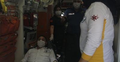 Banka müşterisi terör estirdi! 'Özel Güvenlik Görevlisini Bıçakladı'