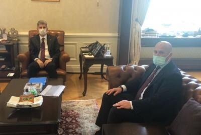 Güvenlik-İş Sendikası Genel Başkanı Çağırıcı'dan İçişleri Bakan Yardımcısı İnce'ye Ziyaret