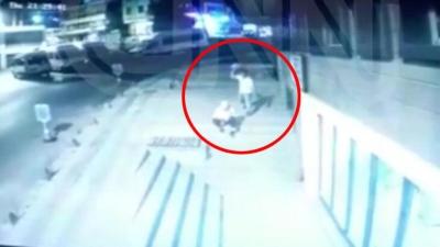 Kadın güvenlik görevlisine canice taşlı saldırı