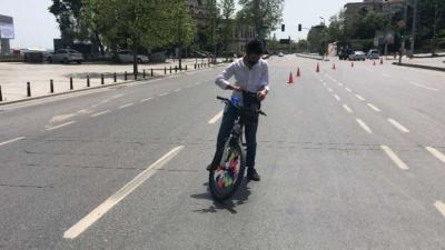 Özel Güvenlik Bisikletle İşe Giderken Trafik Denetimine Takıldı