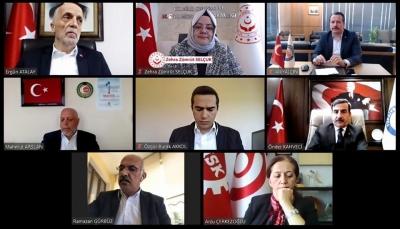 Sendika Başkanları Telekonferans Yöntemi İle Bakanlar Albayrak ve Selçuk İle Görüştü